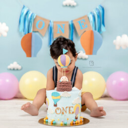 Hot Air Balloon Theme Cake Smash